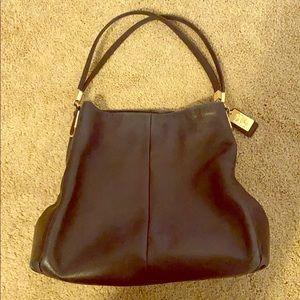 Coach Slouchy Purse - Black Leather